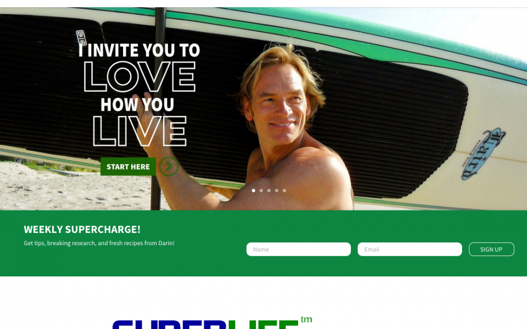 WordPress Website SuperLife