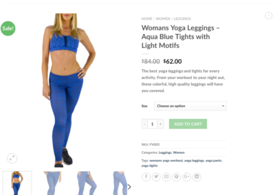 WordPress and Woocommerce Yoga e-commerce website